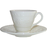 Wedgwood Wellesley Demi Tasse Cups and Saucers 4 Available