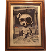 Mid Century GIG Pitty Puppy Framed Print