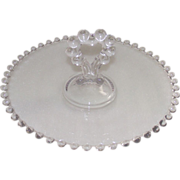 """Imperial Candlewick Center Heart Handled 8 1/4"""" Clear Tray"""