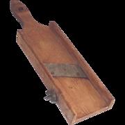 Hand Hewn Wooden Mandolin Slicer  Circa 1900   Kitchen Country