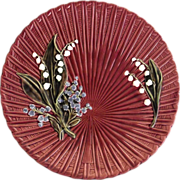 Majolica Lily of the Valley   Master Cake Plate   Schramberg