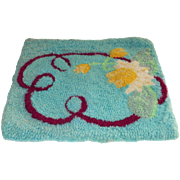 Hooked Rug Table Mat Size Water Lilies