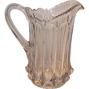 EAPG Paneled Water Pitcher Spectacular 3 Piece Mold