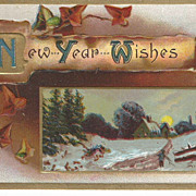 Embossed Scenic 1911 New Years Post Card