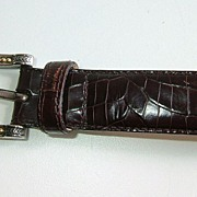 Classic Style Talbot's Embossed Leather Italian Ladies Belt XL