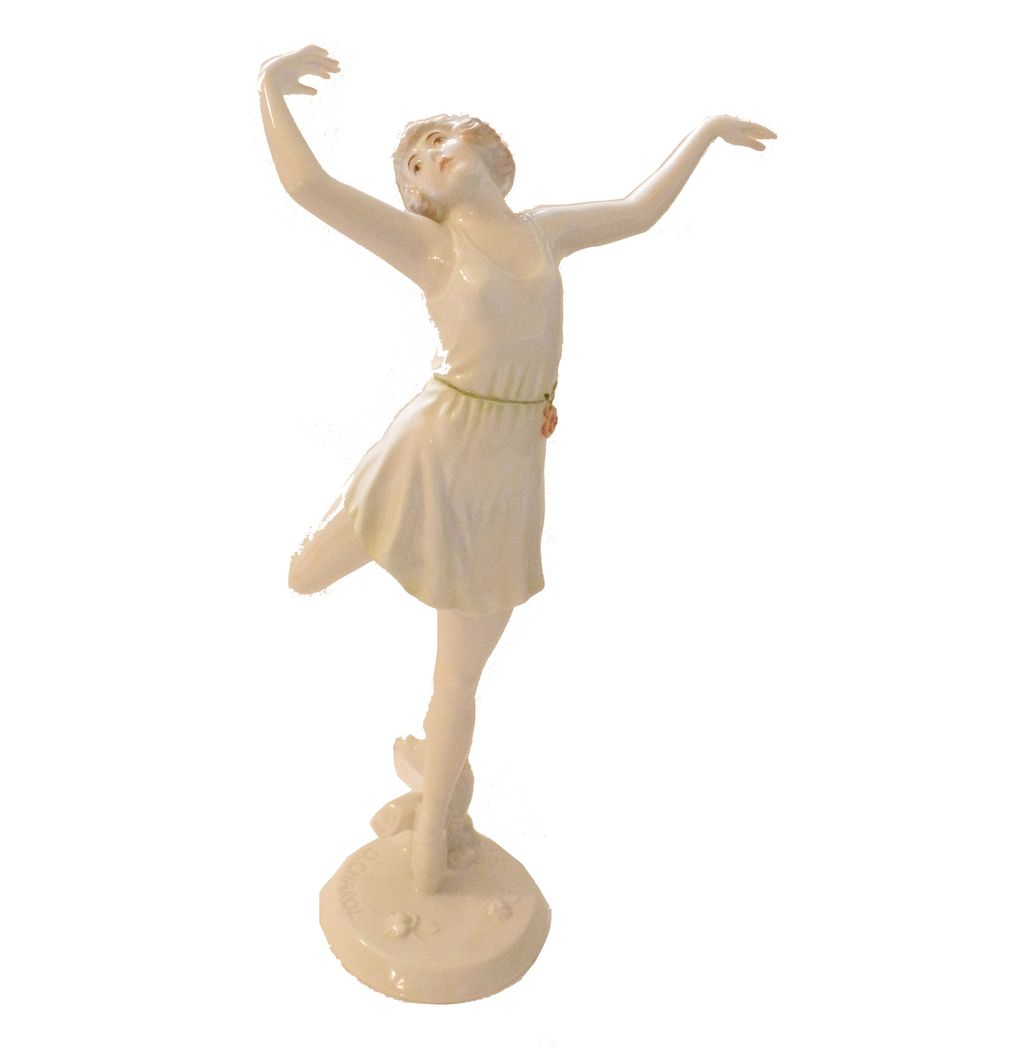 ROSENTHAL by D. CHAROL Art Deco Dancing Lady Figurine-Made in Germany 1920's