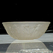 PHOENIX Glass Small Bowl with Nudes-Frosted Clear