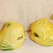 Flirting Yellow Angel Fish Salt and Pepper Shakers