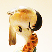 "Charming Crown Staffordshire ""Chickadee"" Bird Figural by Linley Adams"