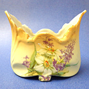 Small Boat-shaped Decorated Dish.  Marked.  Moriage.  Mint Condition.
