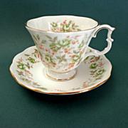 Royal Albert  Bone China.  Green Velvet Pattern of Rose Chintz Series.  As New Condition.