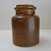 Old French Alsace Region Stoneware Mustard Crock / Pot with Original Cork.  Mint Condition.