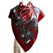 Dolce Vita Paris Scarf.  Red, Black & White.  Striking!  Mint Condition.