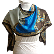 Careta Scarf.  100% Polyester.  Stunning Graphics.  As New with Tag.