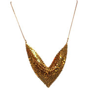 Smaller Gold Tone Mesh Necklace.