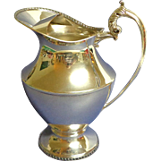 Gorgeous Old English Reproduction Silver-plate Water Pitcher  / Jug with Ice Lip.  Fine++ Condition.
