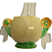 Carlton Ware Buttercup Australian Design Pattern Handled Condiment Pot / Sugar Bowl.  Gorgeous