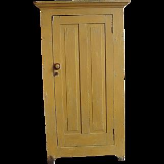 Primitive Painted One Door Jelly Pantry Cupboard
