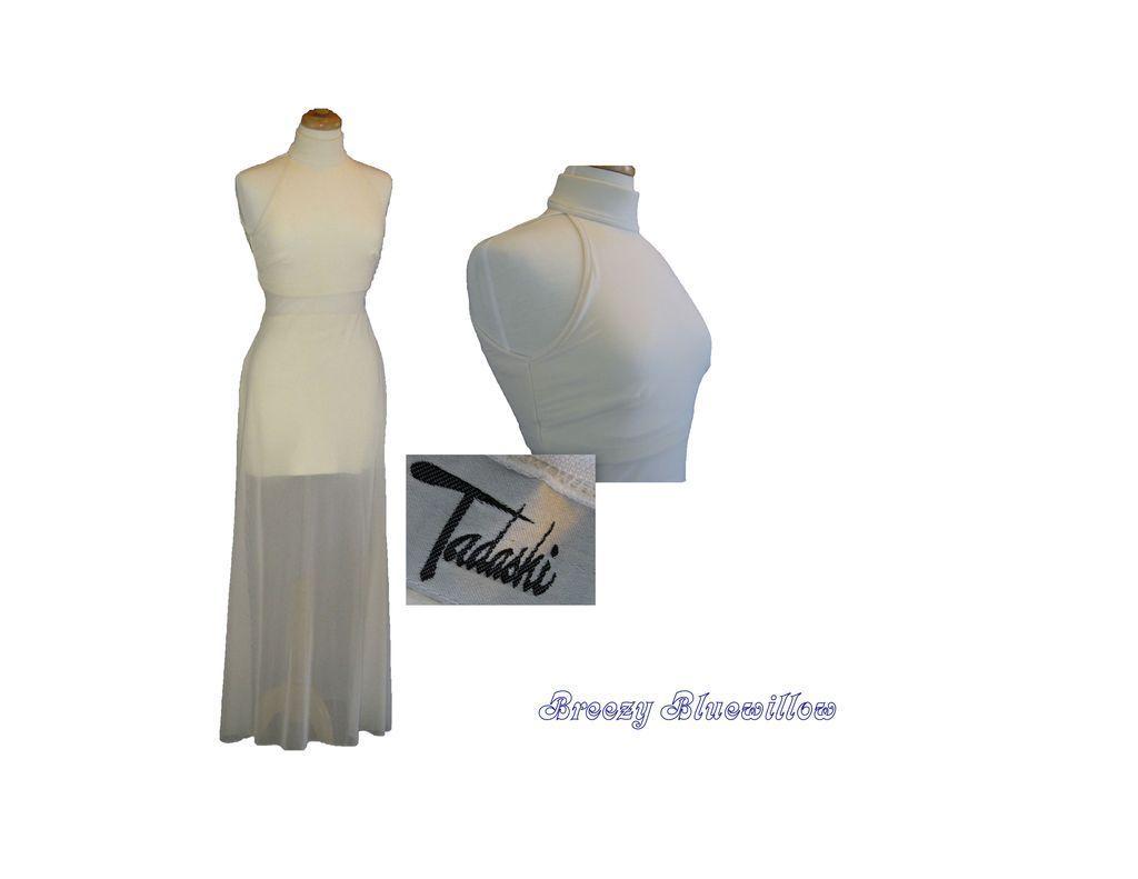 Vintage 1980's White Tadashi Gown