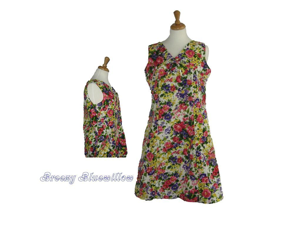 Vintage 1960's Floral Shift Dress