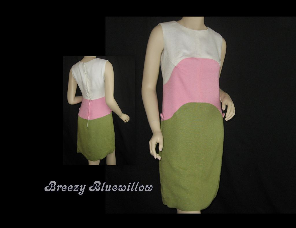 1960's Color Block Shift Dress