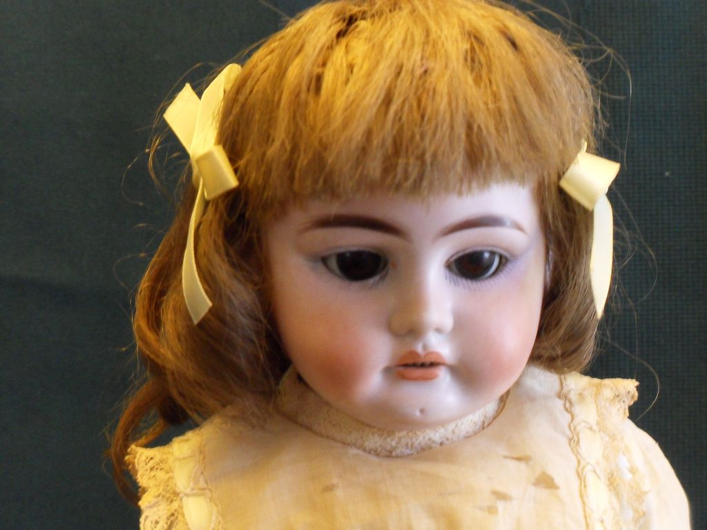 Heubach German character doll with horseshoe mark