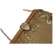 Whiting and Davis Gold Mesh Vintage Purse