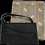 Dofan Vintage Black Suede Purse with original box