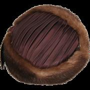 Mink Pillbox Vintage Hat 1960's By Mollie Bee Designs