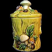 LEFTON's Mushroom Forest Jam Jar Design # 6358 circa 1970