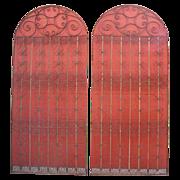 Pair of European Antique Iron Gates!