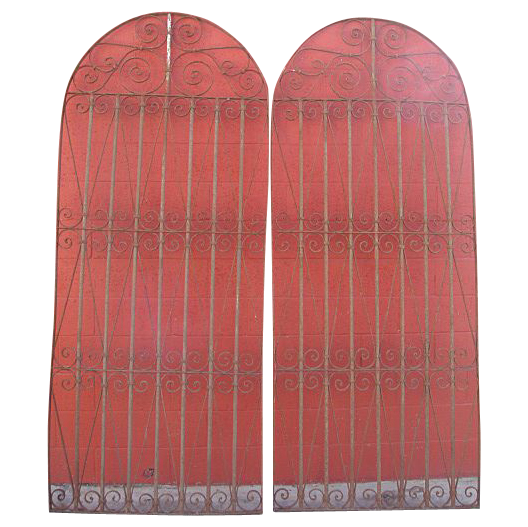 Pair of Antique Iron Gates Antique Garden Gates