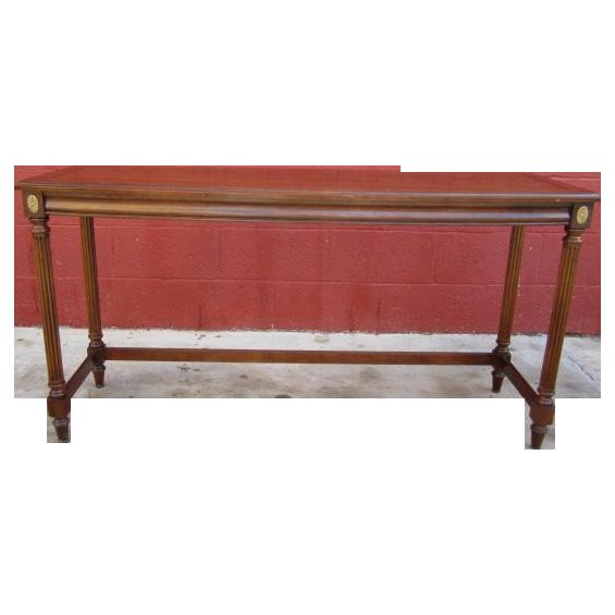 Vintage  Walnut Console Sofa Table Vintage Furniture