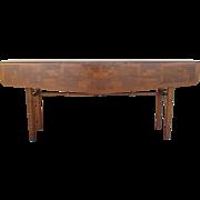 Vintage Danish Modern Mid Century Drop Leaf Dining Table Sofa Table