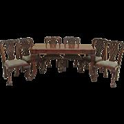 Vintage Italian Carved Walnut Dining Set