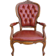Vintage French Leather Chair Armchair Vintage Furniture