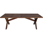 Antique Furniture French Rustic Trestle Table Arts and Crafts Mission