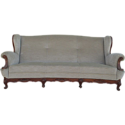 French Antique Wing Back Sofa Couch Antique Furniture