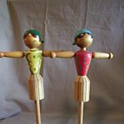 "Japanese Wooden ""Napkin Doll"""