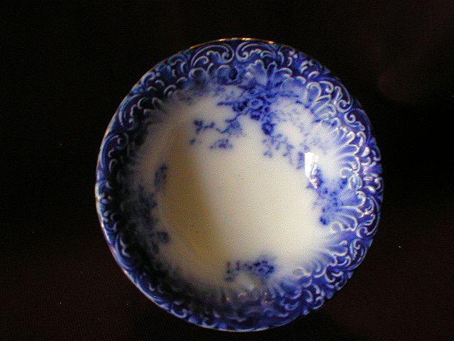 "Wheeling Pottery Flow Blue ""LaBelle"" Cereal/Soup Bowl"