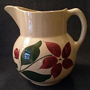 "Watt Pottery ""#17 Starflower"" Pattern Pitcher - 5 Pint Size"