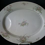 "Theodore Haviland, New York, ""Apple Blossom"" Pattern 16"" Serving Platter"