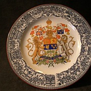 """SOLD Josiah Wedgwood & Sons """"Dominion of Canada - Coat of Arms"""" Commemorative Plate"""