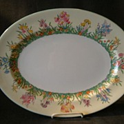 "Josiah Wedgwood & Sons ""Prairie Flowers"" Pattern Oval Serving Platter"
