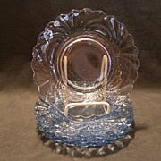 "Set of 6 Cambridge Midnight Blue ""Caprice"" Pattern Luncheon Plates"