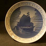 """Bing & Grondahl 1930 Jubilee Plate """"H.C. Anderson"""""""