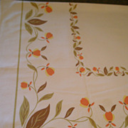 "Startex Starmont Company ""Autumn Leaf"" Pattern Sailcloth Tablecloth"