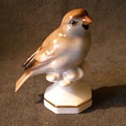 "Gerold Porzellan Bavaria Hand Painted ""Sparrow /Finch"" Figurine #4964"