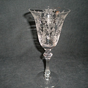 "SOLD Set of 6 - Tiffin ""Cherokee Rose"" Pattern Water Goblets"