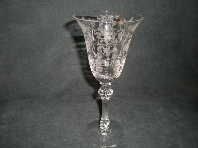 "Set of 6 - Tiffin ""Cherokee Rose"" Pattern Water Goblets"
